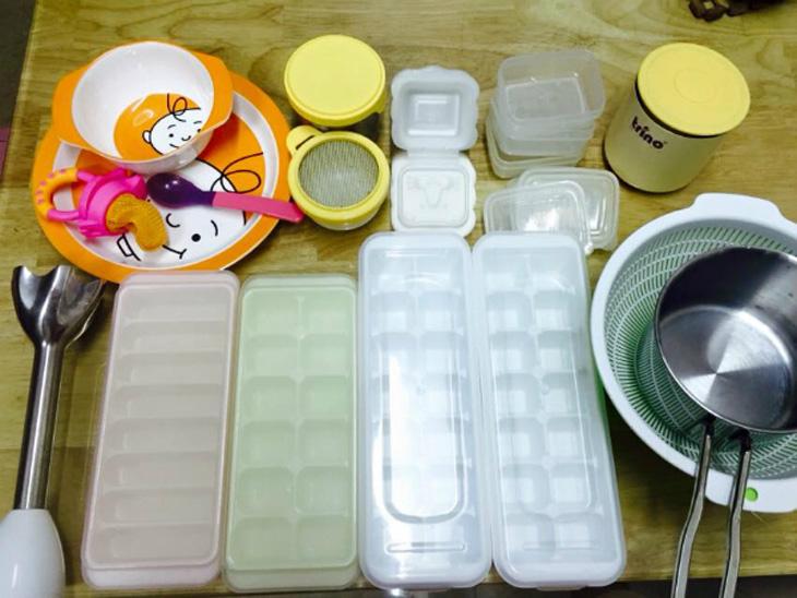 trữ đông thực phẩm cho trẻ