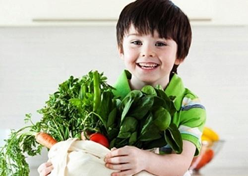 Rau xanh, củ quả tốt cho trẻ bị ỉa chảy