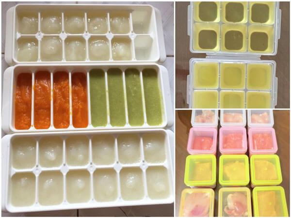 Đồ ăn cho trẻ trong tủ lạnh