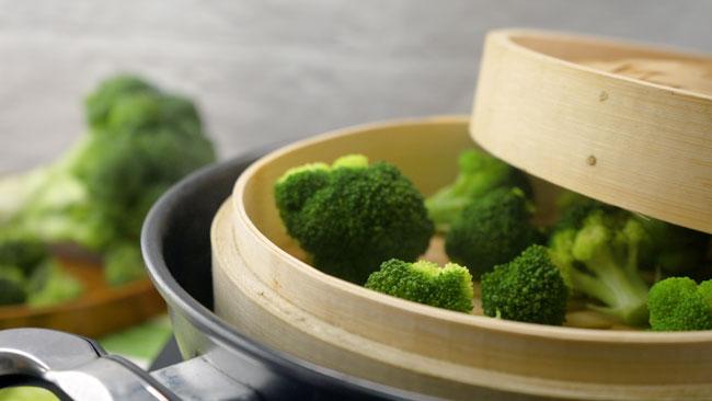 bông cải xanh hấp