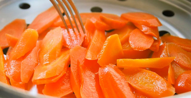 cà rốt hấp