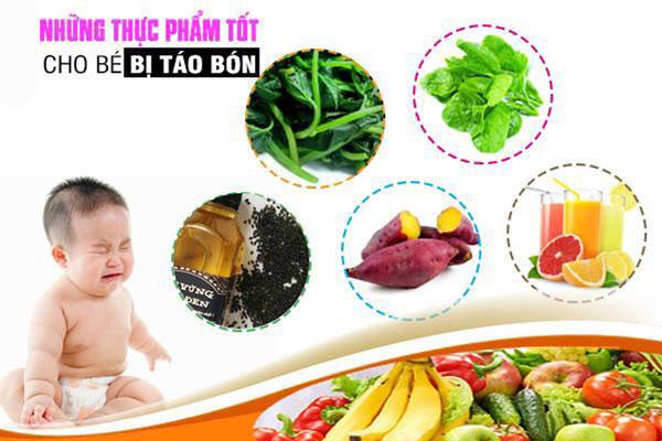 thực phẩm cho trẻ bị táo bón